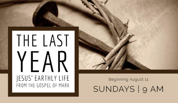 The Last Year: Jesus' Earthly Life from the Gospel of Mark