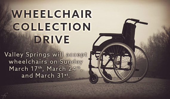 Wheelchair Collection Drive